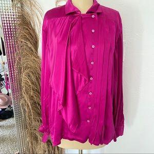Pink Silk Escada Blouse